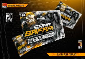 Electro Flyer Template by AndyDreamm