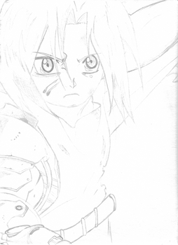Edward Elric with Battlescars by Th3-Vort