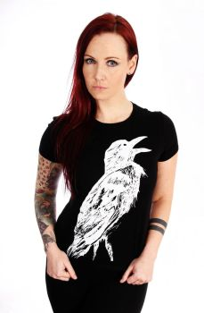 Crow Women Shirt / Black by VincentLentzsch
