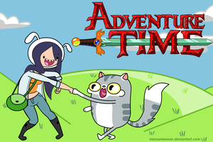 Adventure Time with Emily and Pheobe by poninator