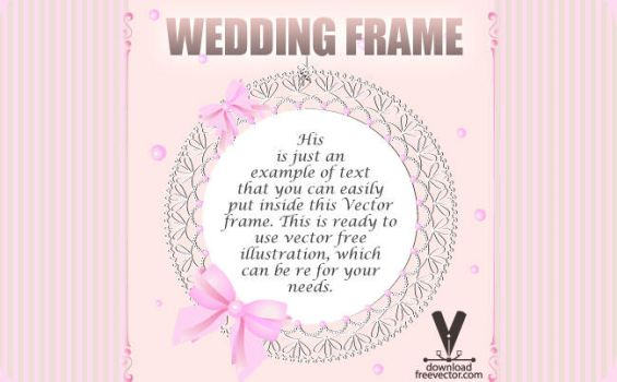 Wedding Frame by downloadfreevector