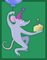 Birthday Rat by jennyweatherup