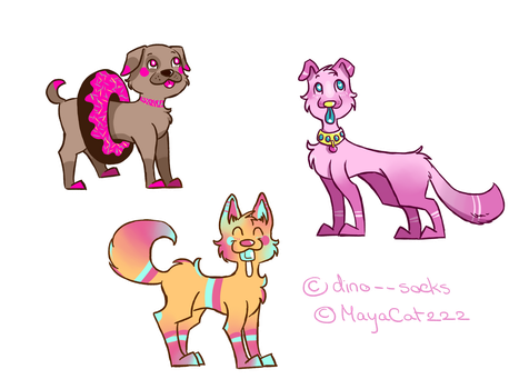 [OPEN] Candy Dogs Adopt Collab by MayaCat222