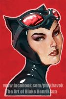 Catwoman Colorized by pinkhavok