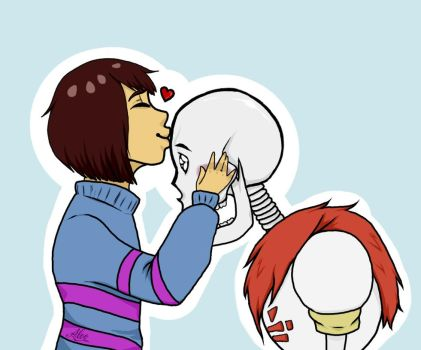 Frisk x Papyrus by Miss-Trollingg