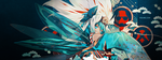 Cirno Facebook cover by vizune