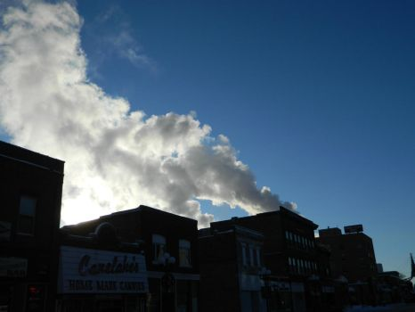 Steam Over the Town by NickleKing