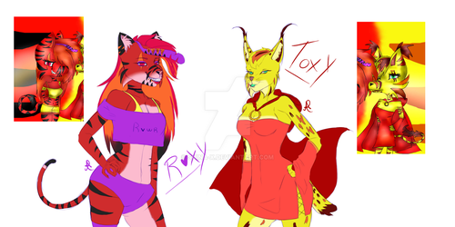 Roxy and Toxy .:REDRAW:. by Shina-X