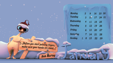 Calendar January English by SeekerofAwe