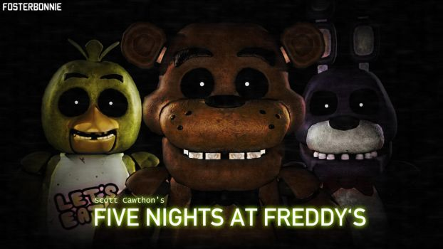 Five Nights at Freddy's Poster Version 1 by FosterBonnie