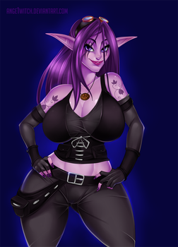 Cute little-Big Night Elf by Ange1Witch