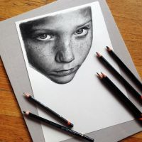 Pencil Drawing in Progress by AtomiccircuS