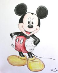 Mickey Mouse (Color) by linus108Nicole