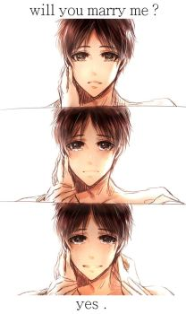 SNK -- Eren , Marry me . by aphin123