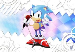 Classic Sonic by Nerkin