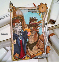 ATC Trade with Paradoxsketchbook by Dodgesmiley