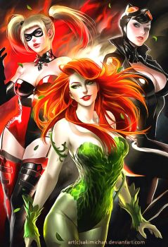 DC Girls Repaint Poster by CyberGal2013