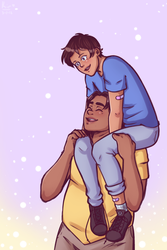 tall best friends are great [ hunk/lance ] by oh-no-Castiel