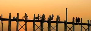 U Bein Bridge At Sunset by CitizenFresh