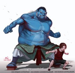 Jinbei and Ace by inhyuklee