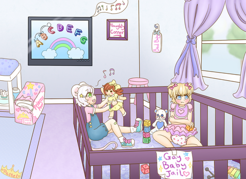 Gay Baby Jail (Diaper Content) by Pastel-Hime