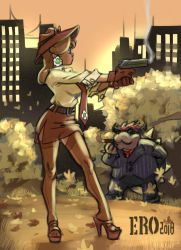 Detective Daisy and the bad guy by psicoero