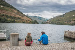 sweet Portugal - dialogue on the river bank by Rikitza