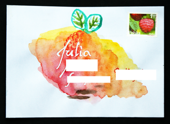 Painted letter envelope by JaBoJa
