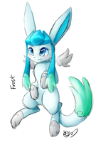 Frost the winged glaceon /lazy sketch/ by Freeze-pop88
