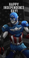 Captain America wishes you a Happy 4th! V2 by IronWarrior777