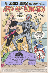 JUSTICE FRIENDS VS ULTRON by paintmarvels