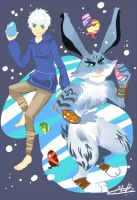 Rise of the guardians :Jack frost and Bunny by MimuRa33