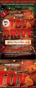 Christmas Toy Drive Flyer Template by Hotpindesigns