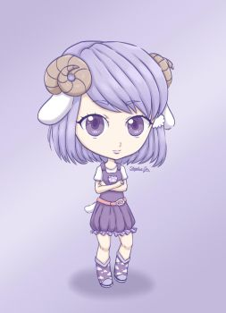Sheep Chibi - Gift by Stephie-Jo
