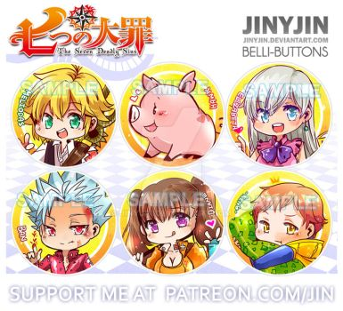nanatsu no taizai button set by jinyjin