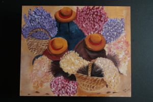 Vendedoras de flores by gracepaint