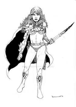 Red Sonja by PeterSzmer