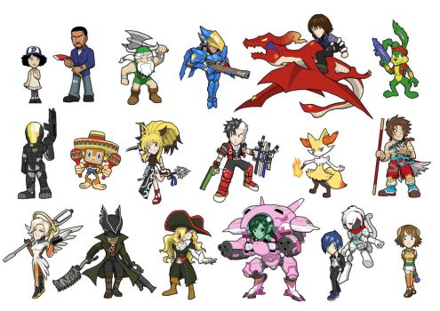 Game Heroes Characters 3 by Fandias