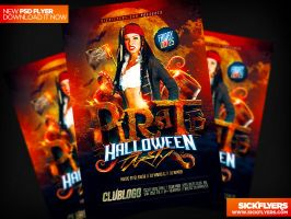 Pirate Party Flyer Template / Columbus Day by Industrykidz