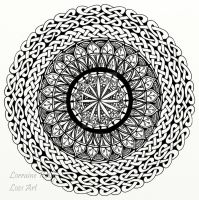 Celtic Knot Mandala - Adult Colouring Page by LorraineKelly