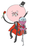 Sailor Benson and Tuxedo Pops by Washu-Dark-Ira
