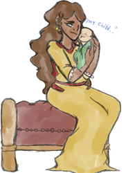 (God of War) Snuggles With Mom by KrampusChild