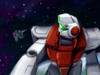 RGM-79 - Encounter in Space by DerZocker
