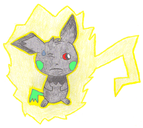 Pichu Used Thunder Shock! by Jasperinity