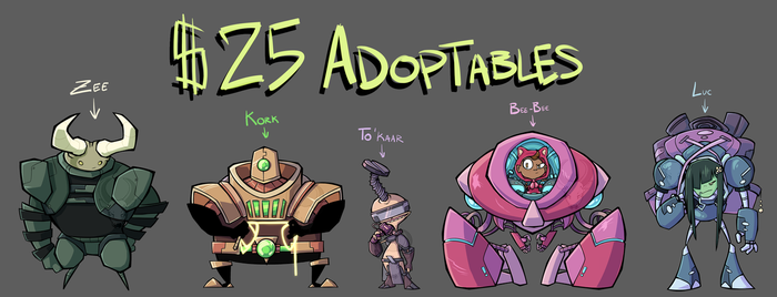 -REJECT ALIENS- Adoptables by TheCau