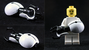 LEGO 3D Printed Painted Portal Gun by mingles
