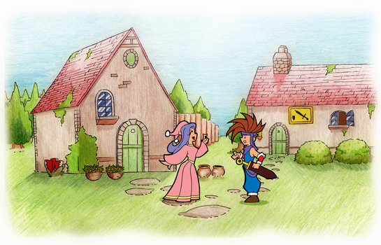 Secret of Mana - Potos by Fiona-Wallace