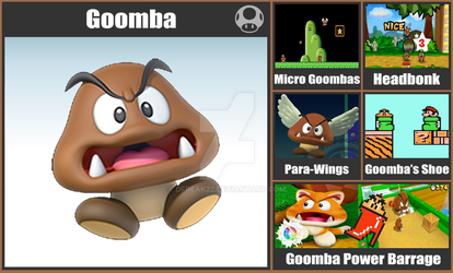 Super Smash Bros.: Goomba by DFreak22