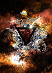 Space Triangle 2 by mayan-art