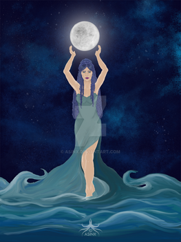 Lady of Moon and Tide by asinx